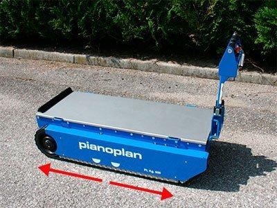 Elevador Pianoplan - Traslado sobre orugas